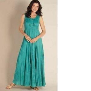 SOFT SURROUNDINGS Women's Delphine Maxi Dress Teal